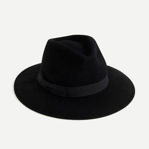 NWT J.Crew Western hat with grosgrain trim black